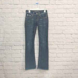Zipper | Bootcut Jeans Back Pckt Design